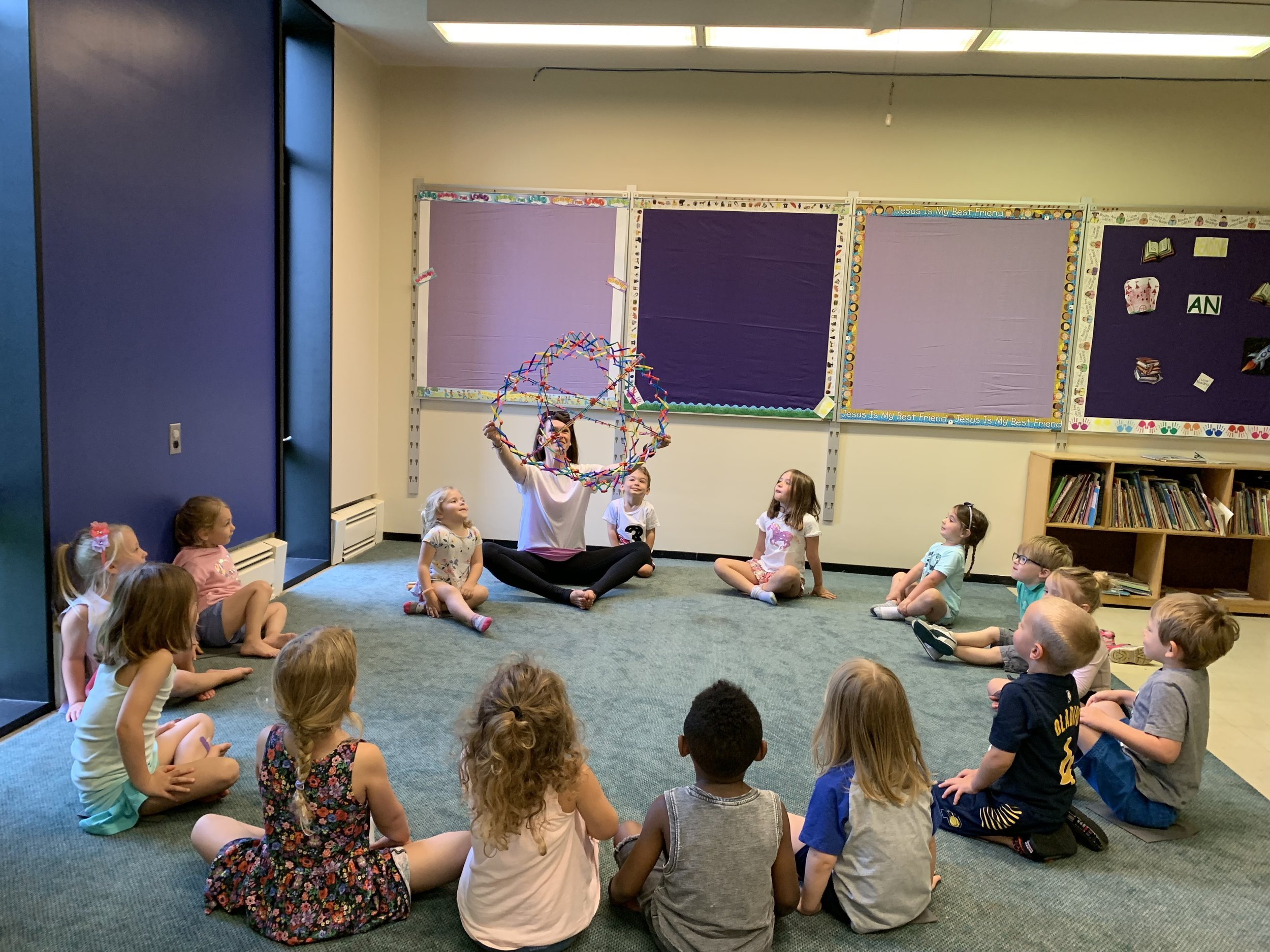 Butterfly Kids Yoga at preschool / childcare  last week. Breathing in big, breathing out long!