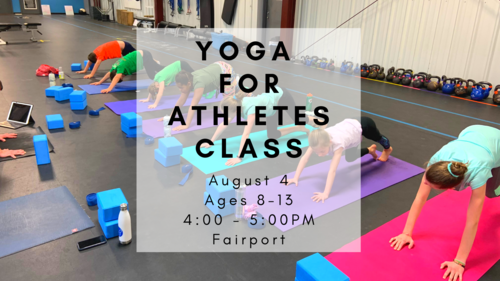 Sunday, 8/4 . A great class for ages 8-13. Develops flexibility, mobility, focus and more.   SIGN UP HERE  .