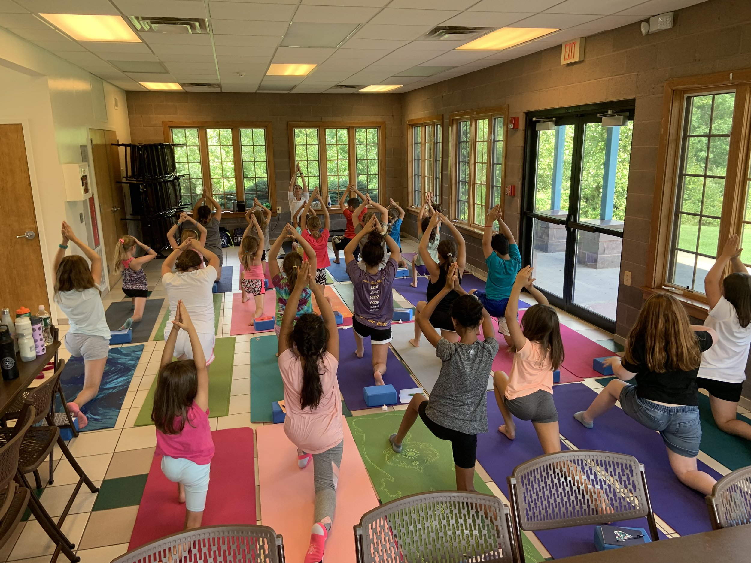 Lunging into our afternoon with our Tweens — a great stretch and flow!