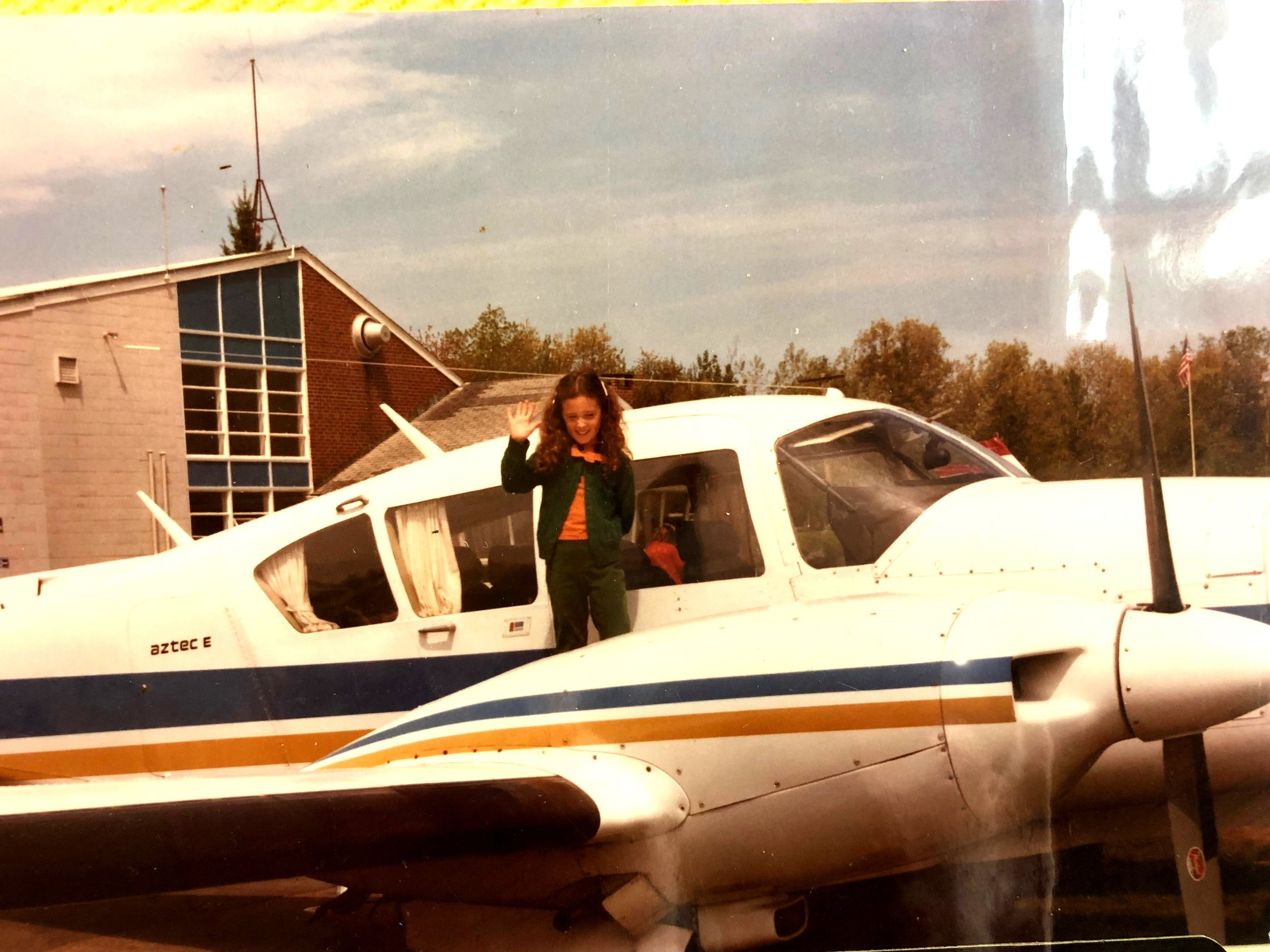 Me before I was terrified to fly!