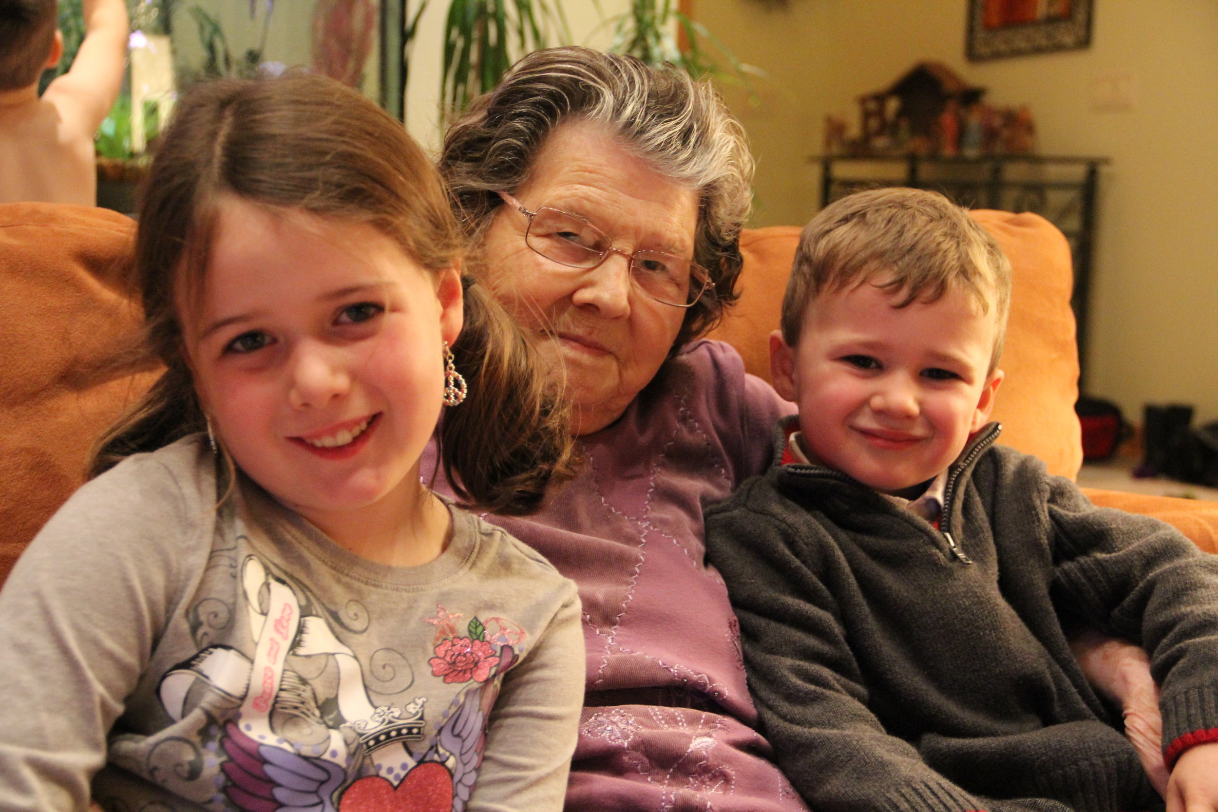 My grandmother with the littles.
