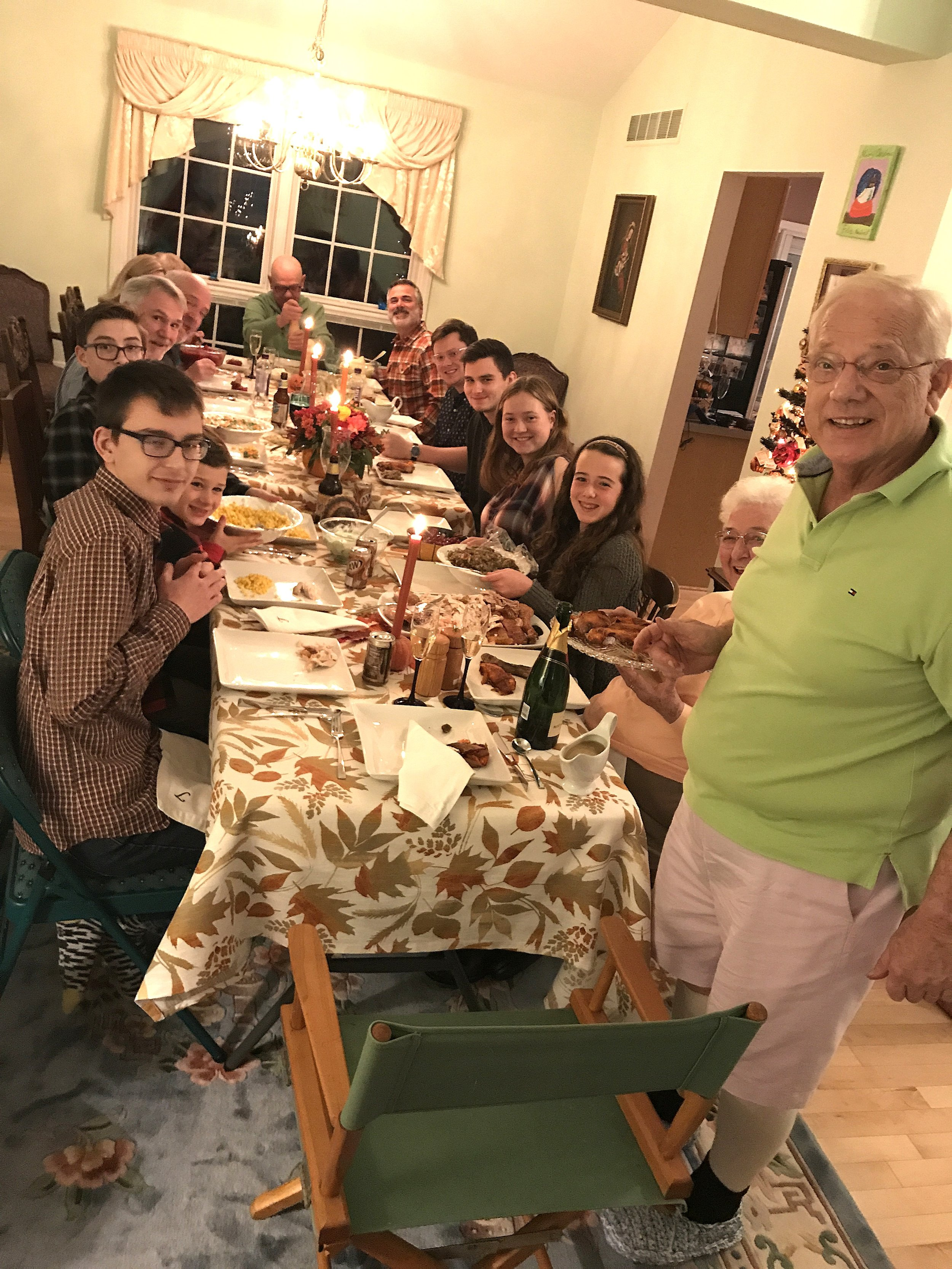Our family gathered around the Thanksgiving table.