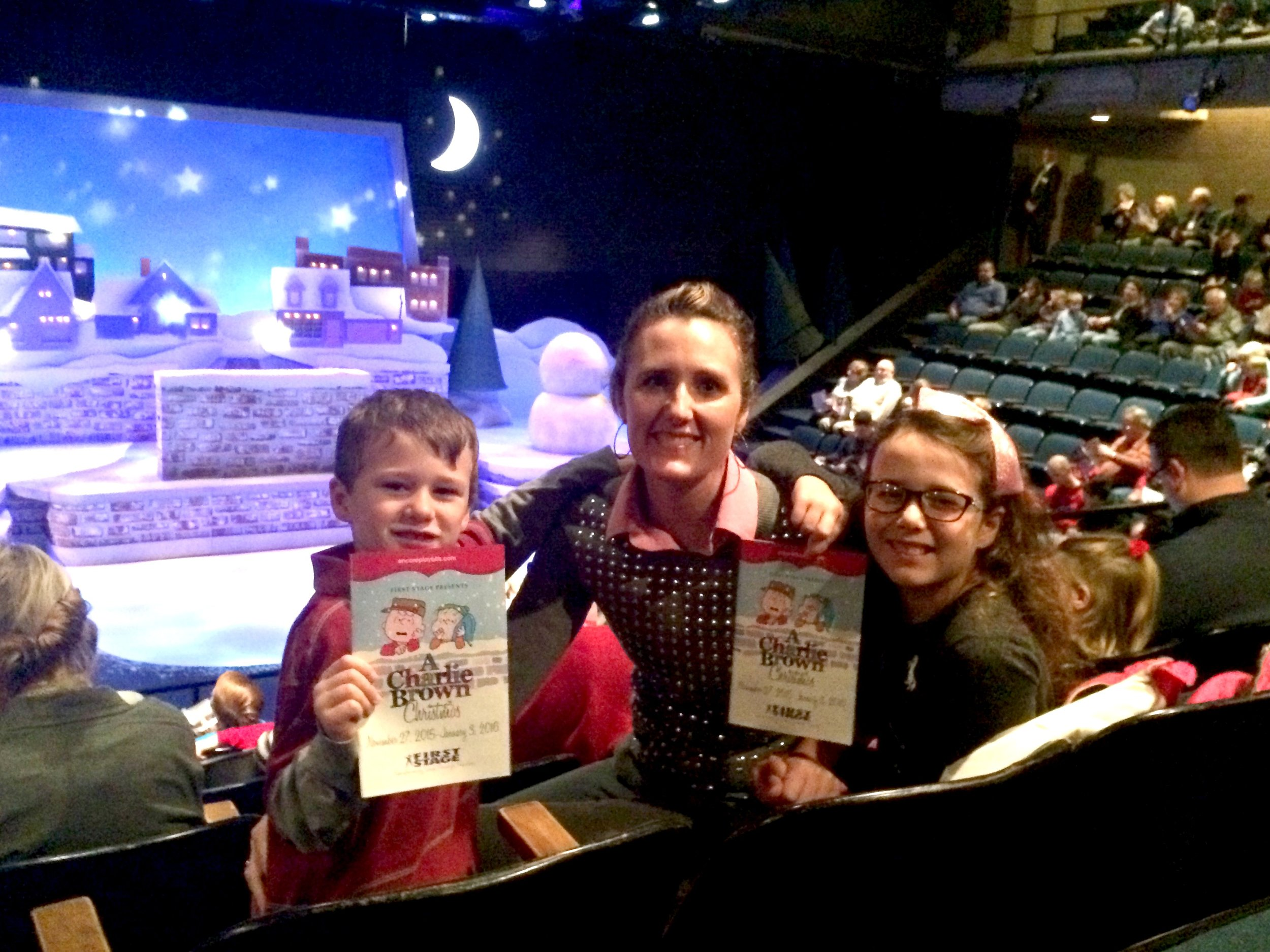 Taking in a local holiday show at  First Stage Children's Theater .