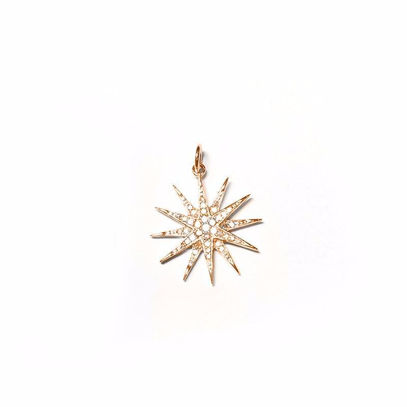 Medium Diamond Starburst Charm