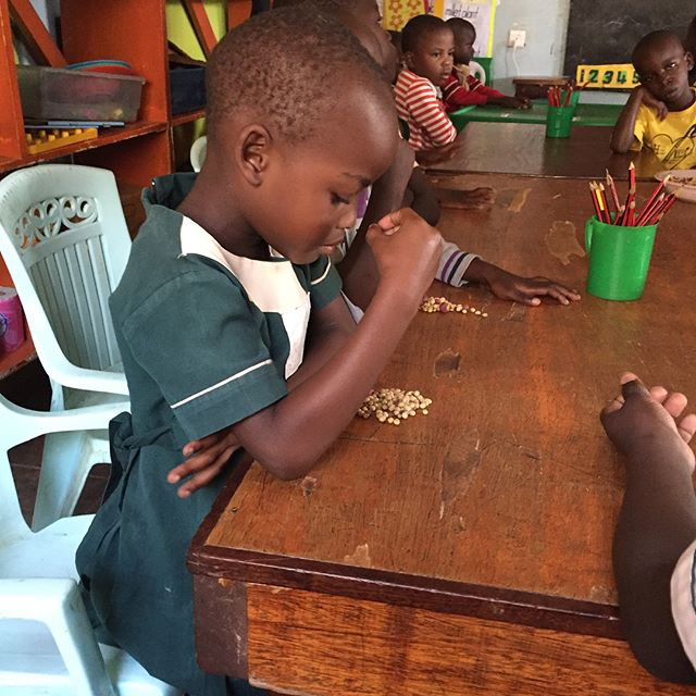 Today was busy!! We visited the K3 (3 year old) class to observe a new curriculum, participated in a feeding program, @jesserb46 got a sewing lesson from the ladies in the Sewing class, and we visited a nearby village.  The last is a Home there.  Whew!  We are tired...but so excited to watch God's work here. @gsfuganda is doing amazing things. #teachersonmission #providenceacademyva #teachersinsummer