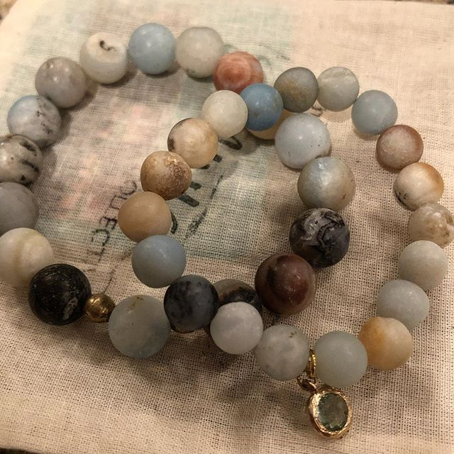 Looking for the perfect stocking stuffer?  How cute are these Mommy & Me sets?  This set is matte amazonite, but I can make it in lots of color ways.  DM me with questions.  #thesanyucollective #joythruawearness #sanyuchristmas