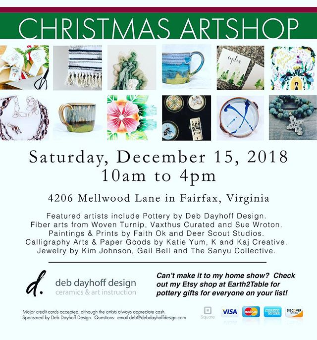 It's not going to be nice outside today...but you know where it WON'T be raining?  The Christmas Artshop that we are part of.  We set up the Sanyu on Thursday and there are some super cool things from some awesomely talented artists there!  Swing by and grab some last minute stocking stuffers, or under the tree stuffers, or cool things for yourself! #thesanyucollective #joythruawearness #christmasartshop