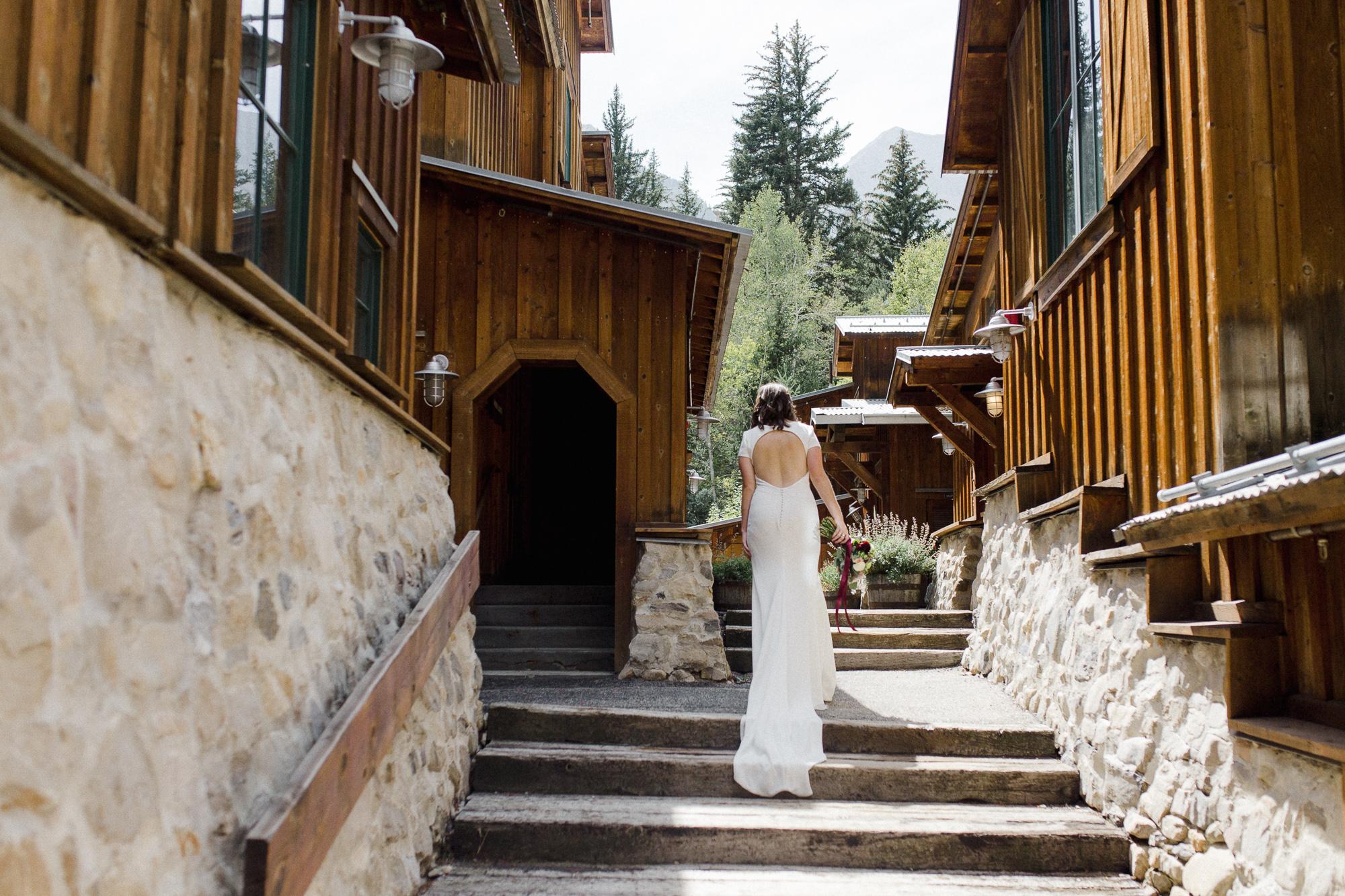 Bride at Sundance Resort.