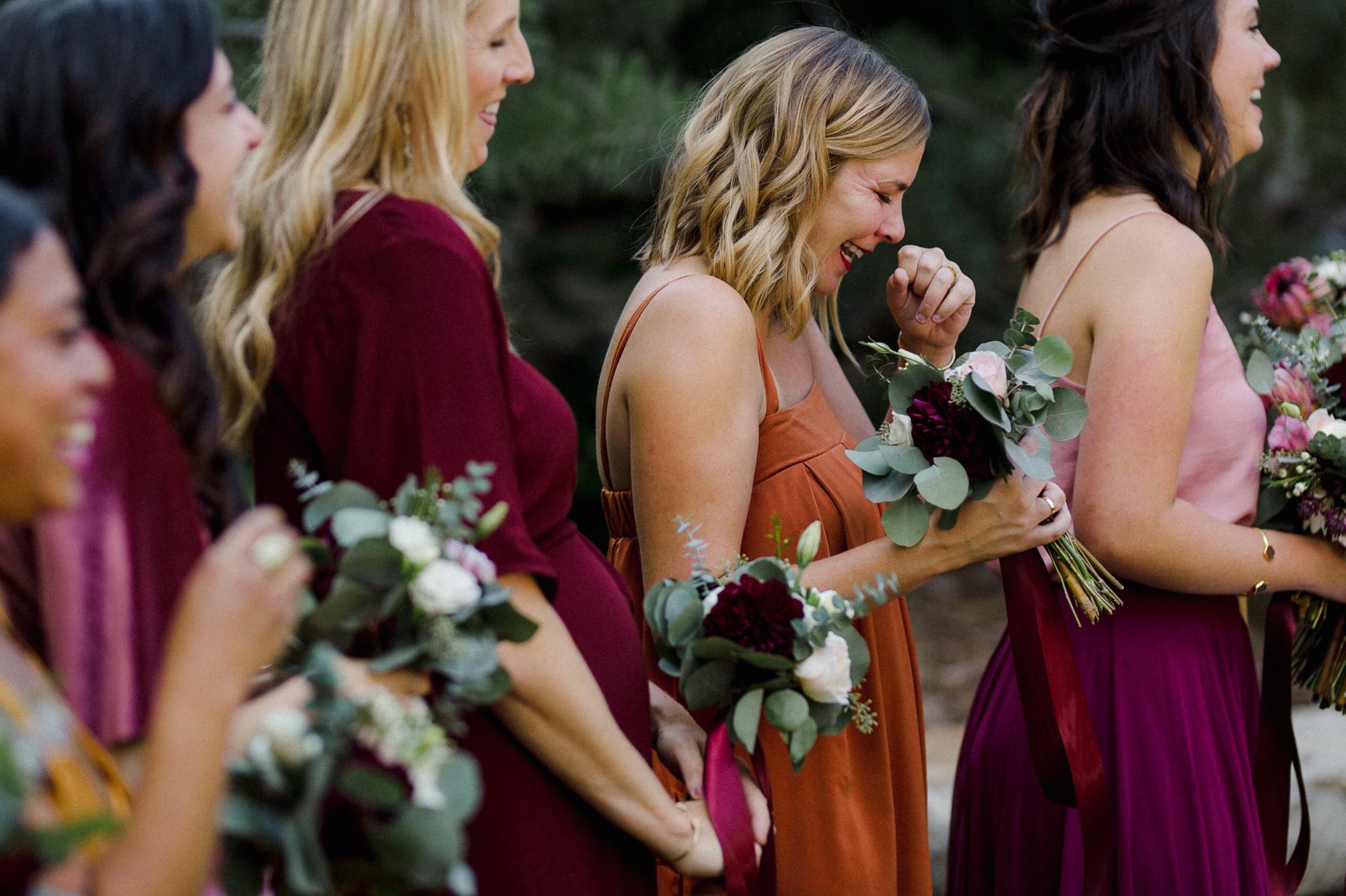 Bridesmaid Laughing.