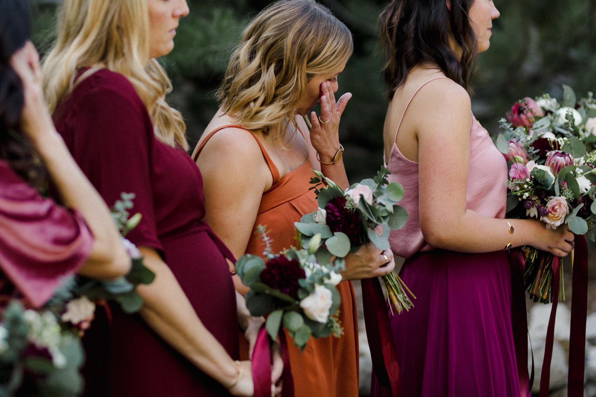 Bridesmaid Crying.
