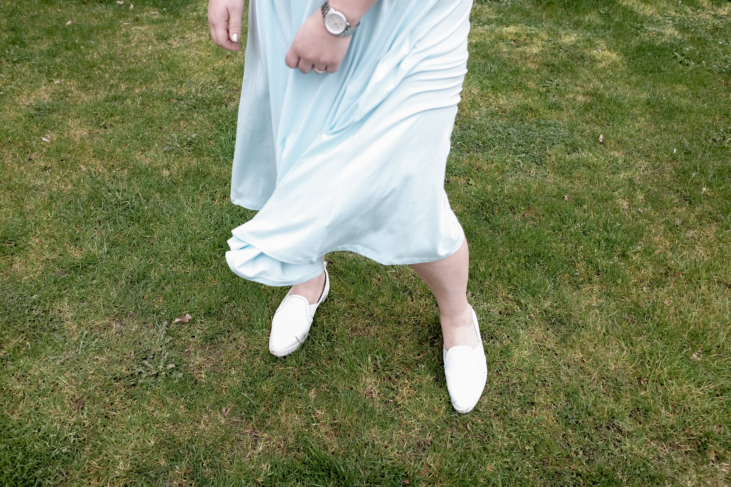 White flats go with pretty much everything!