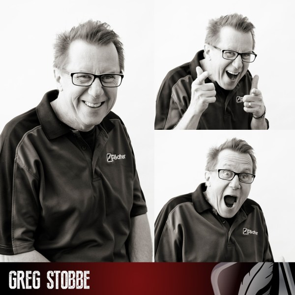 Feather adviser Greg Stobbe in his 2017 Feather staff photo.