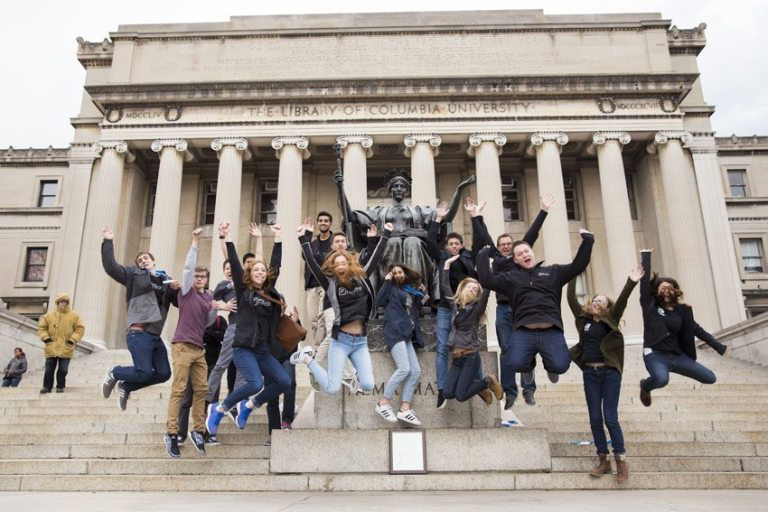 Feather staff's have been attending the CSPA journalism conference at Columbia University in NYC since 1998. The staff won the 2016 Digital Gold News Crown and celebrated in front of the Low Library in March.