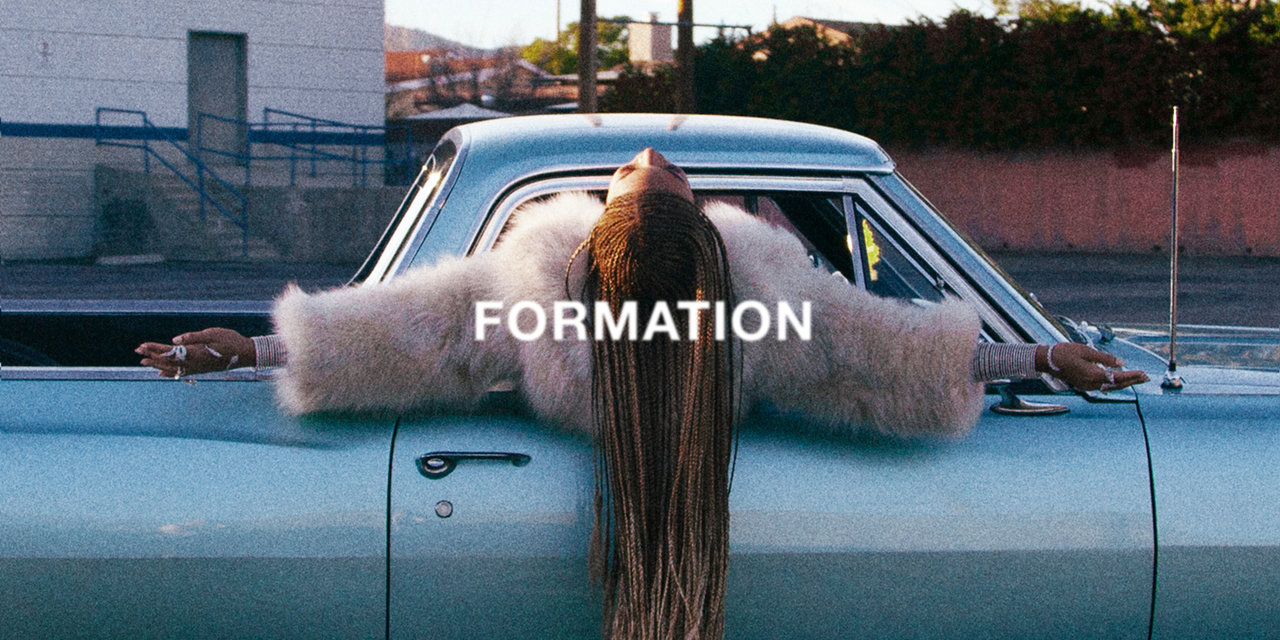 Beyonce in her Formation video for album 'Lemondae'