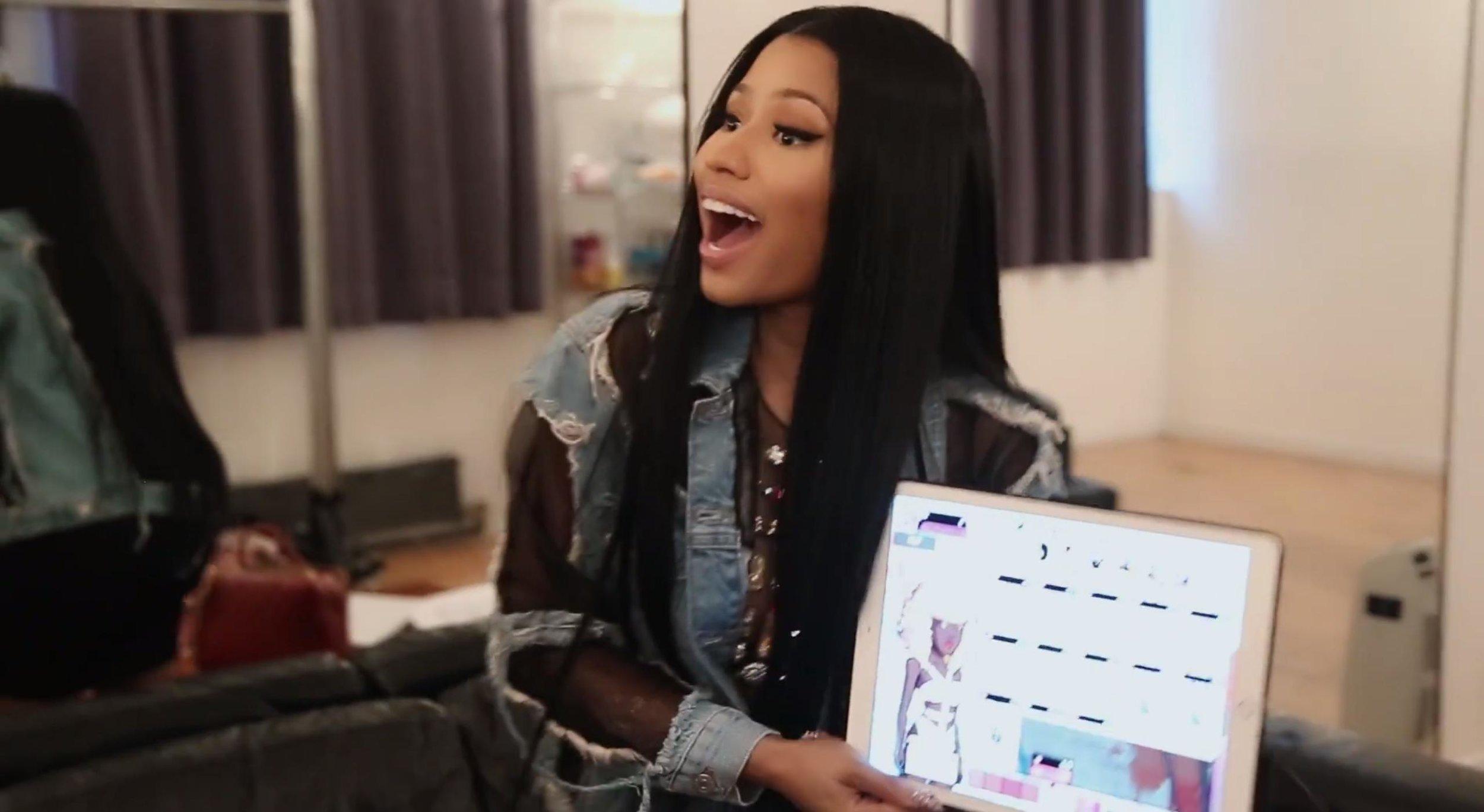 Nicki Minaj in the process of creating her new app