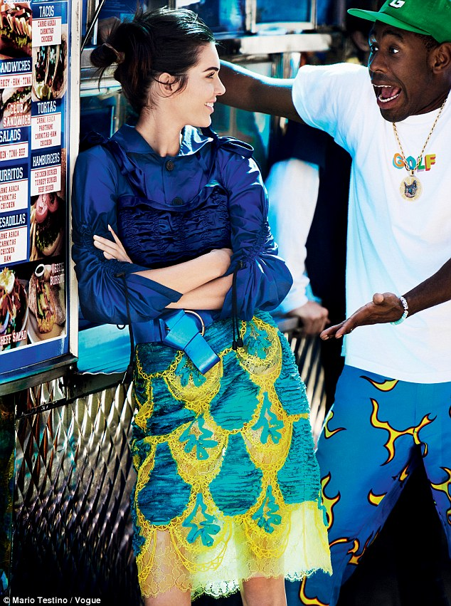 Kendall Jenner and Tyler, The Creator for Vogue. Picture taken by Mario Testino.