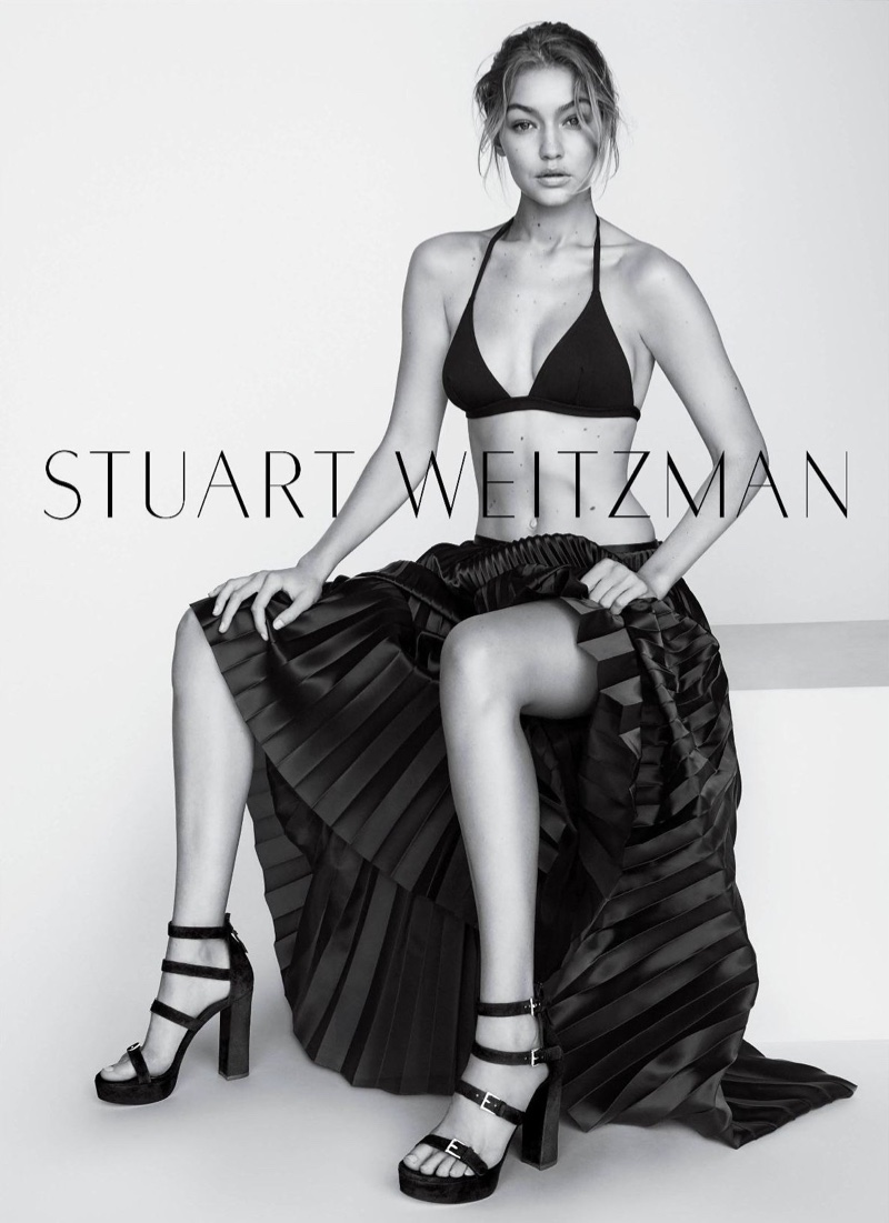 Gigi Hadid for Stuart Weitzman shot by Mario Testino