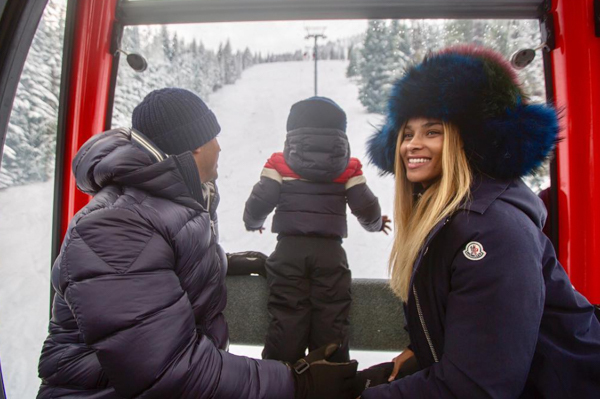Ciara and Russell Wilson with baby Future