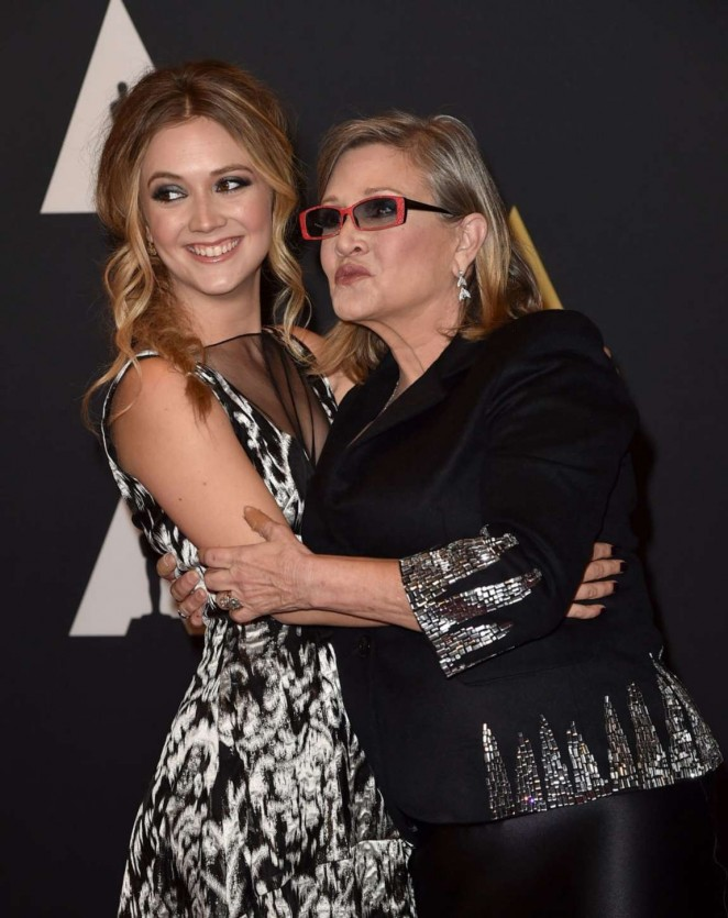 Carrie Fisher and Billie Lourd: Governors Awards 2015, photo taken from gotceleb.com