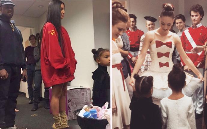 Kim Kardashian West attends the Ballet in LA, photo taken from Instagram