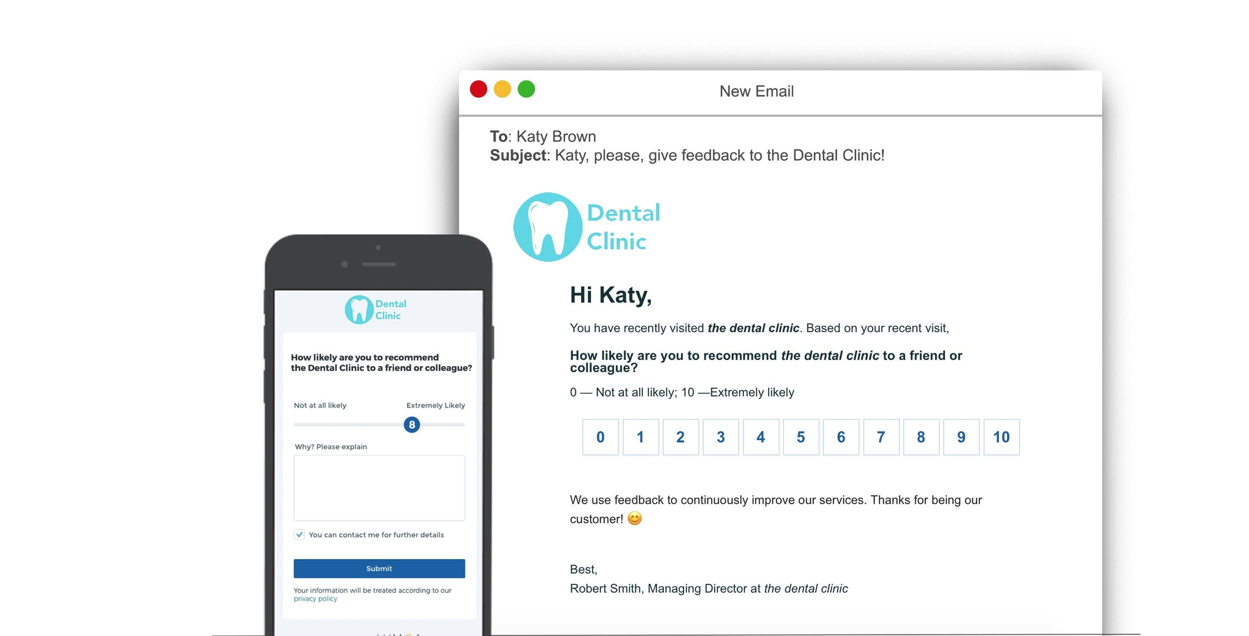 Find out what your customers think about the service of your dental clinic