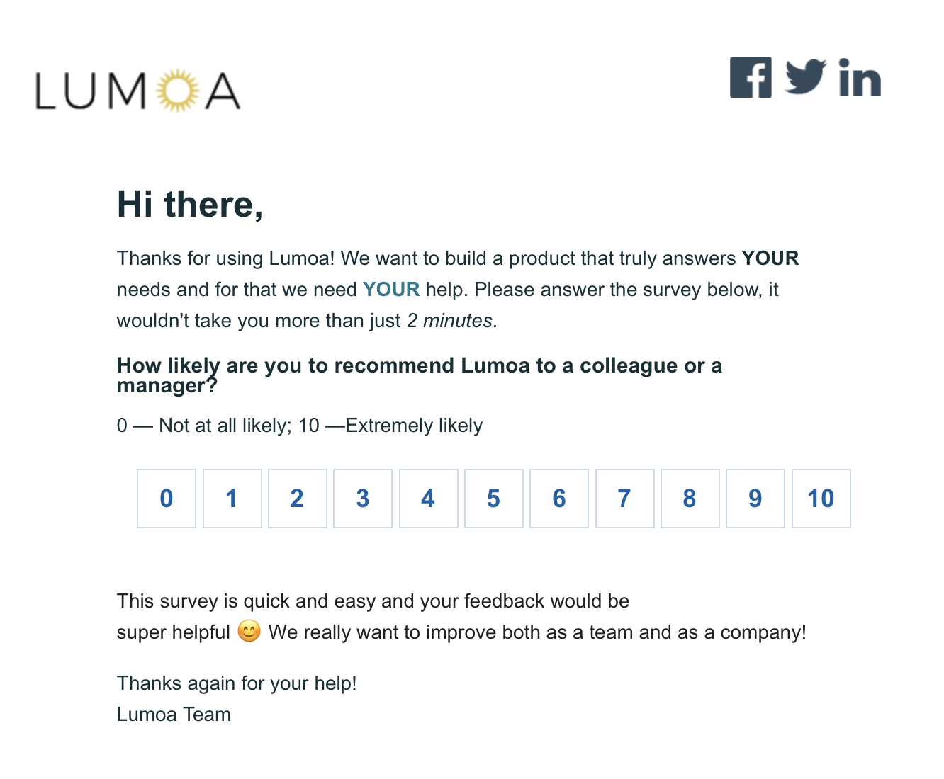 Example of email sent through HubSpot