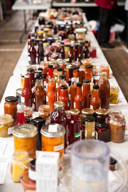 Sauces and jams galore! Photo Credit: Eloise Emmett.