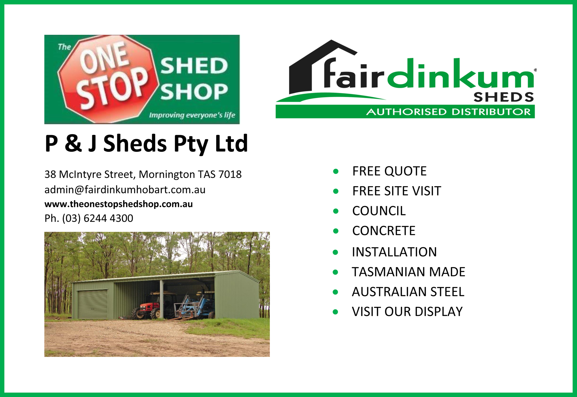 2017 Bream Creek Ad P and  J sheds.jpg