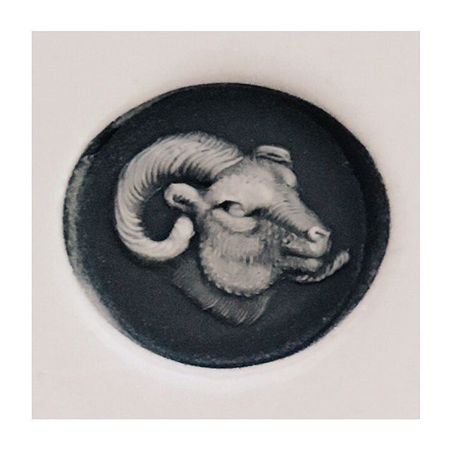 Wax impression from my ram's head ring! • • #rebus #rebussignetrings #signet #signetring #signetrings #ram #ramshead #aries #9ct #gold #ring #heirloom #showmeyourrings #handmade #bespoke