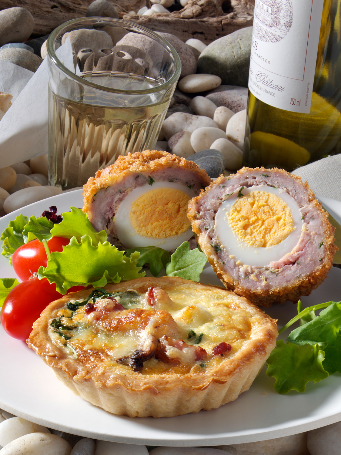 Picnic Quiche and Scotch Eggs