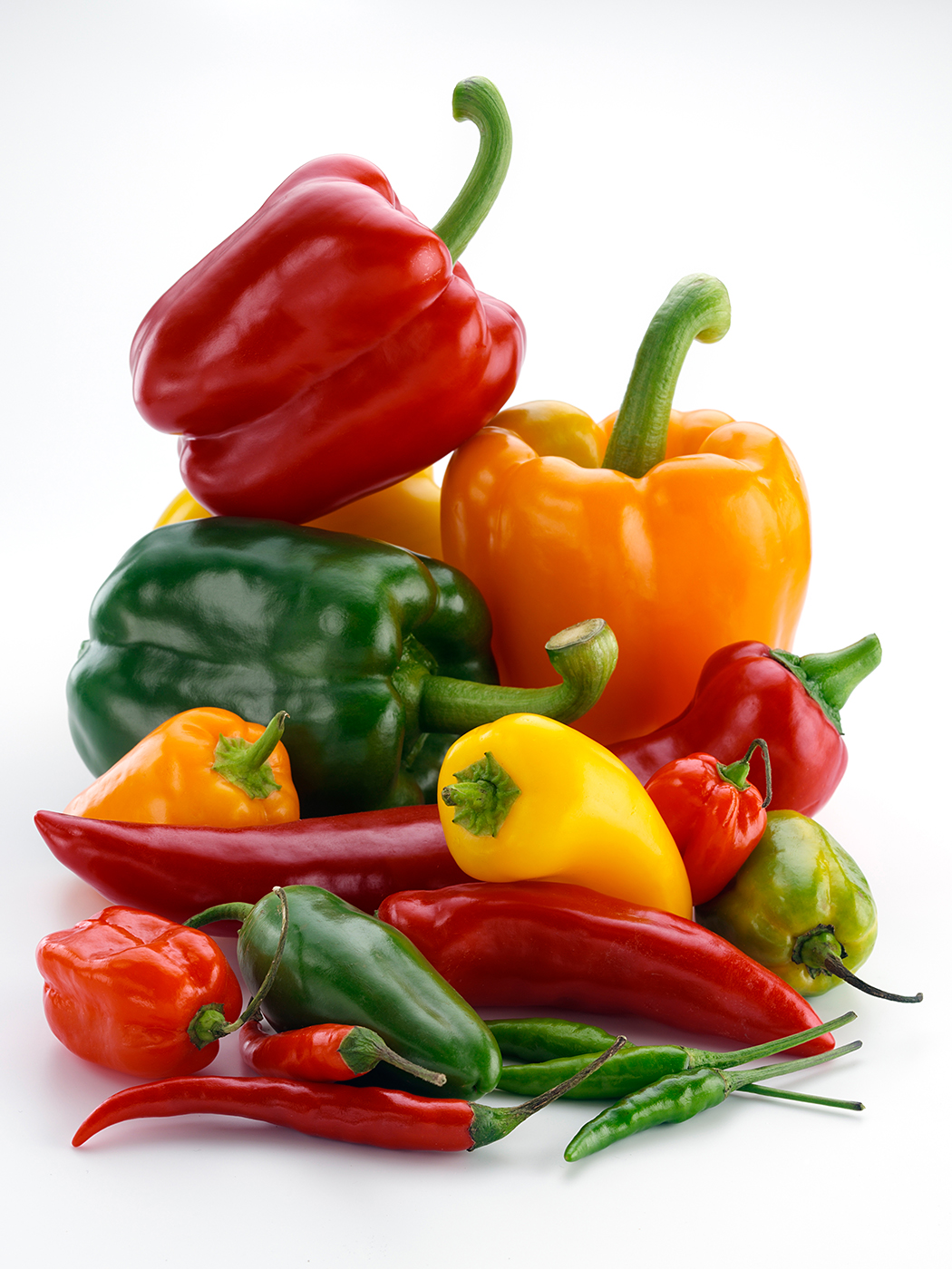 Sweet and hot capsicums