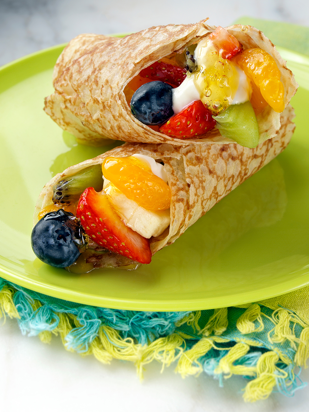 Fruit crepes