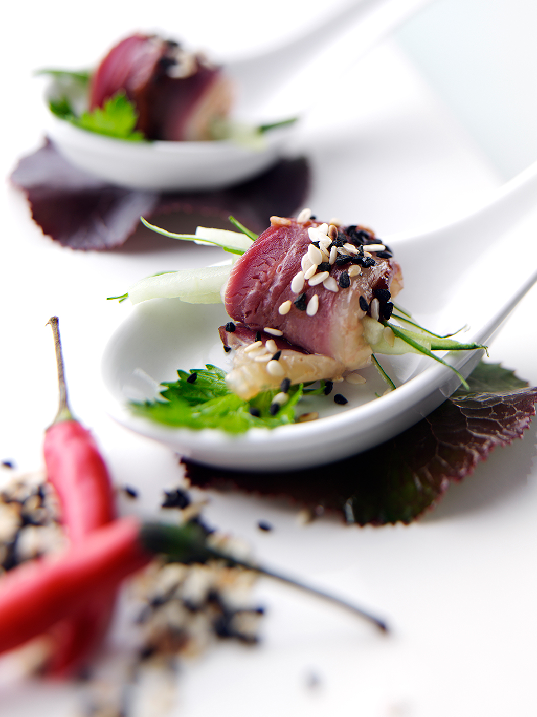 Duck canapes