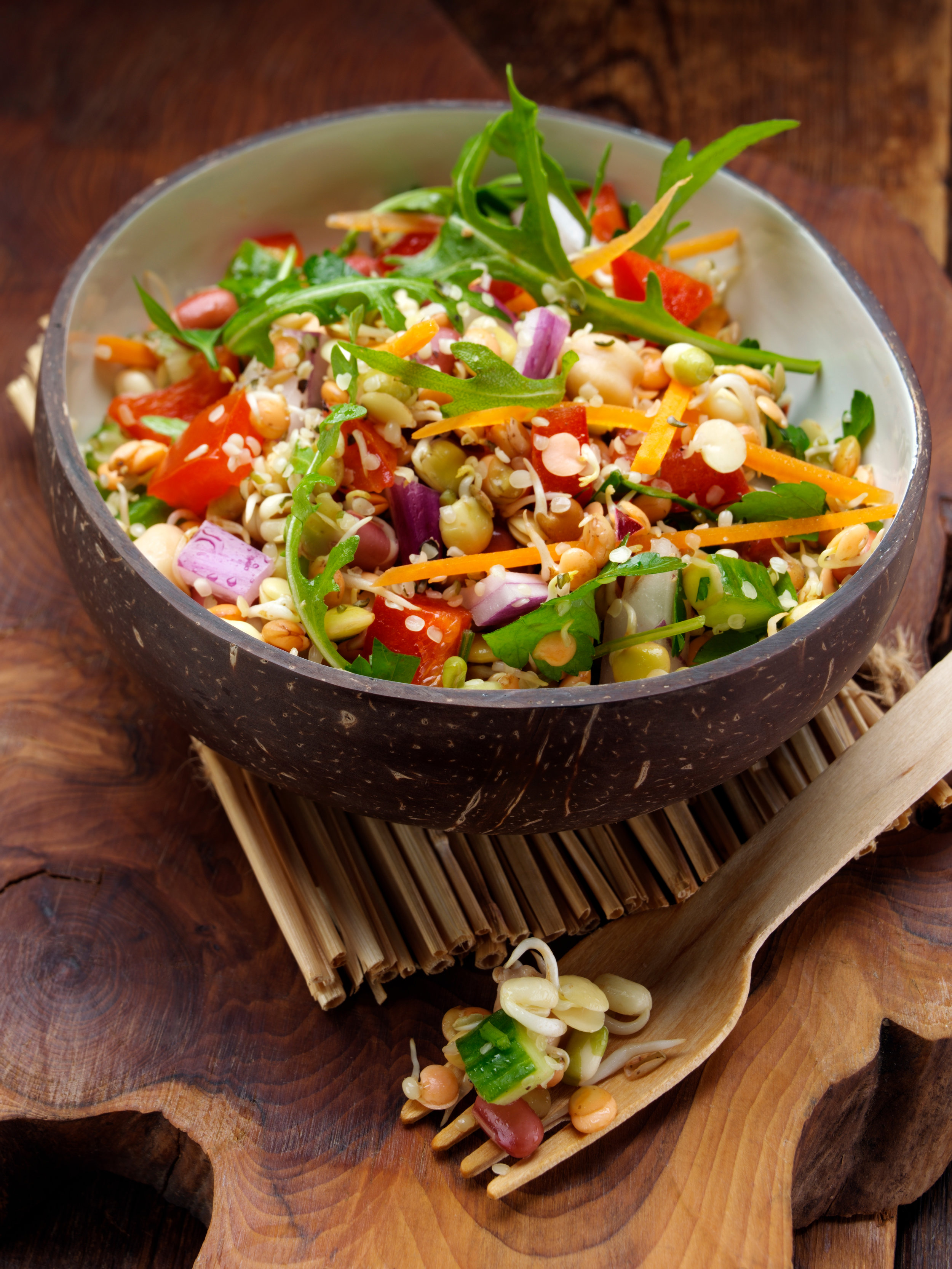 Sprouting bean salad