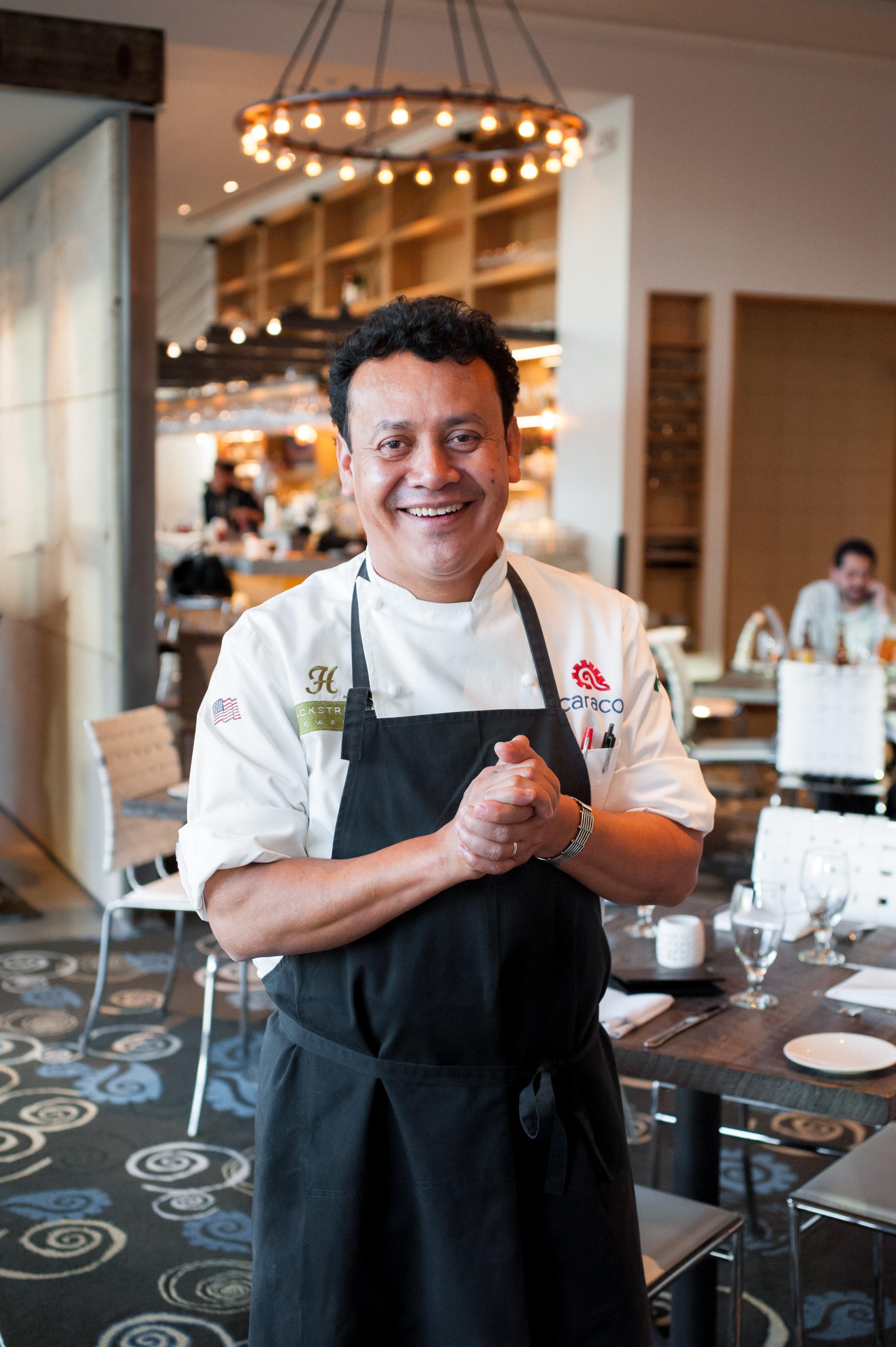 Chef/Owner,H Town Restaurant Group  (Hugo's  Caracol  Backstreet Café  Xochi)   Houston, TX  James Beard Award Best Chef Southwest winner, 2017;finalist, 2012, 2013, 2014, 2015,2016  htownrestaurantgroup.com