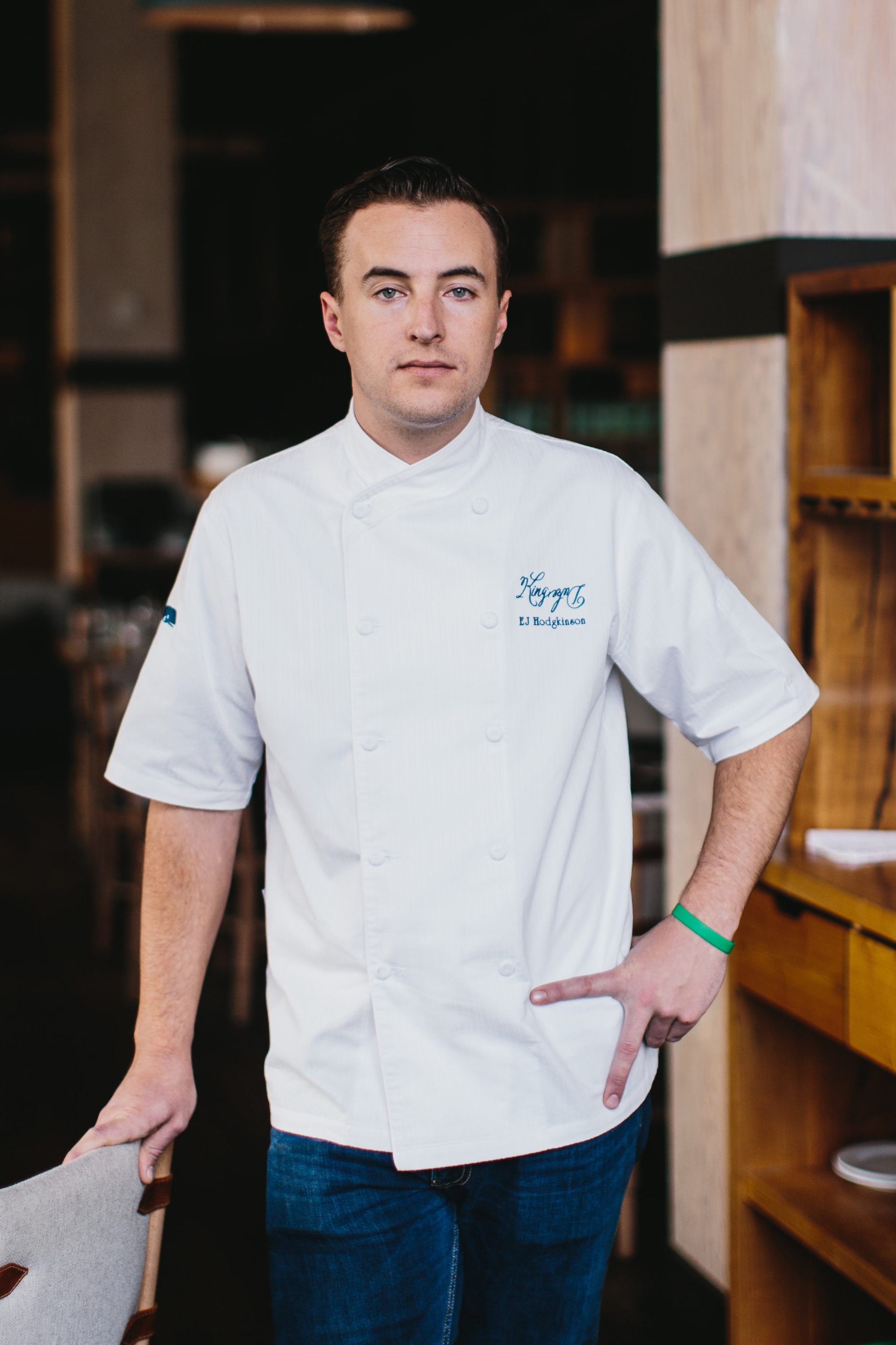 Executive Chef, King + Duke  California-native EJ Hodgkinson combines sustainable, organic advocacy and industry knowledge with King + Duke's signature bent toward open-fire cooking. With age-old technique and a 24-foot open-fire hearth, Hodgkinson injects the over-arching theme of responsible butchering and direct-heat cooking into the juicy, smoky menu at King + Duke, and further propels the restaurant into the limelight of Atlanta's food scene. Under his leadership, the Atlantan and other notable publications have named King + Duke one of the top restaurants in Atlanta.