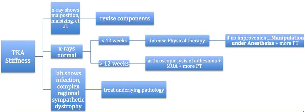 TKA STIFFNESS treatment algorithm