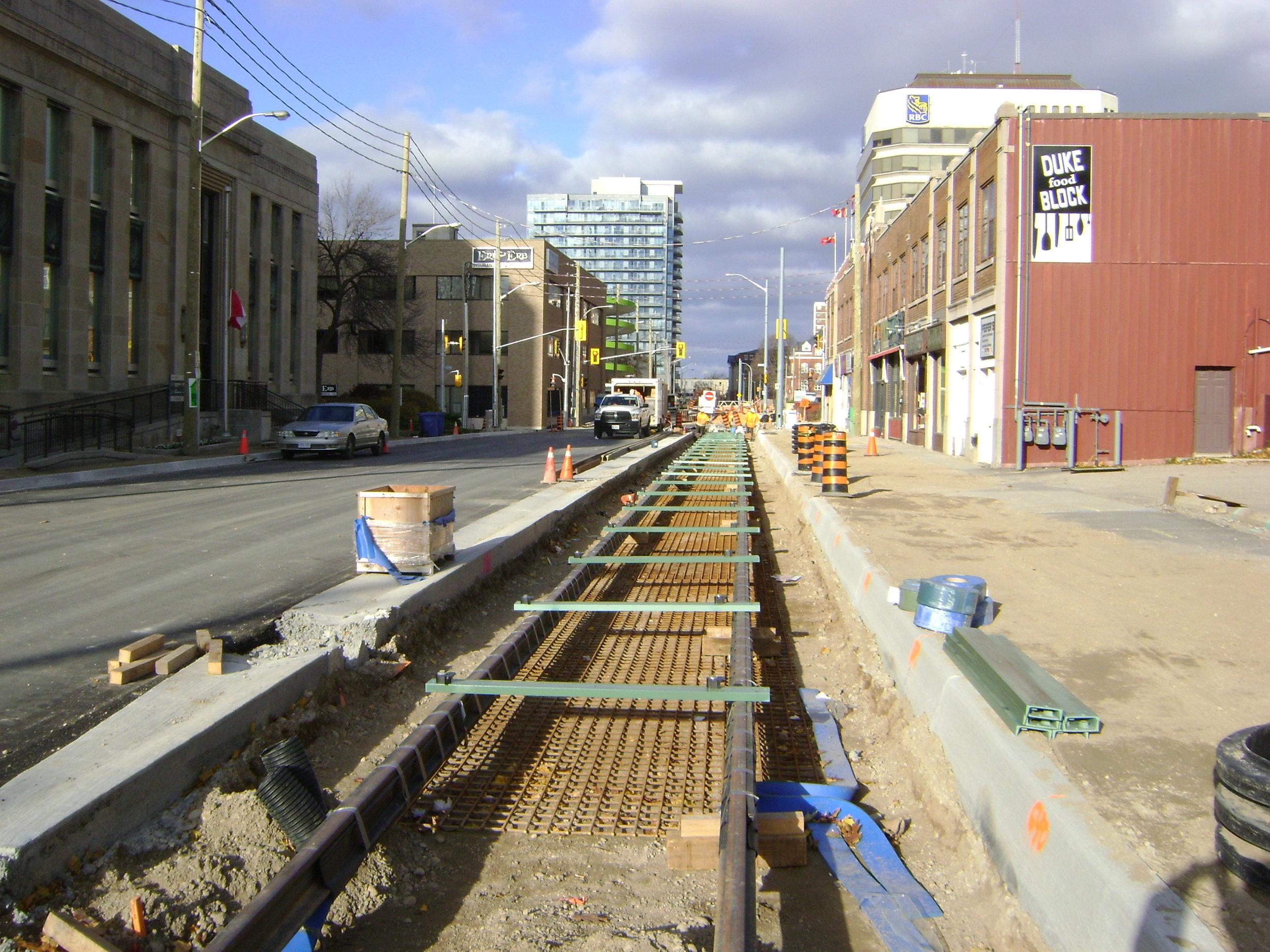 Rail is set along Duke Street.