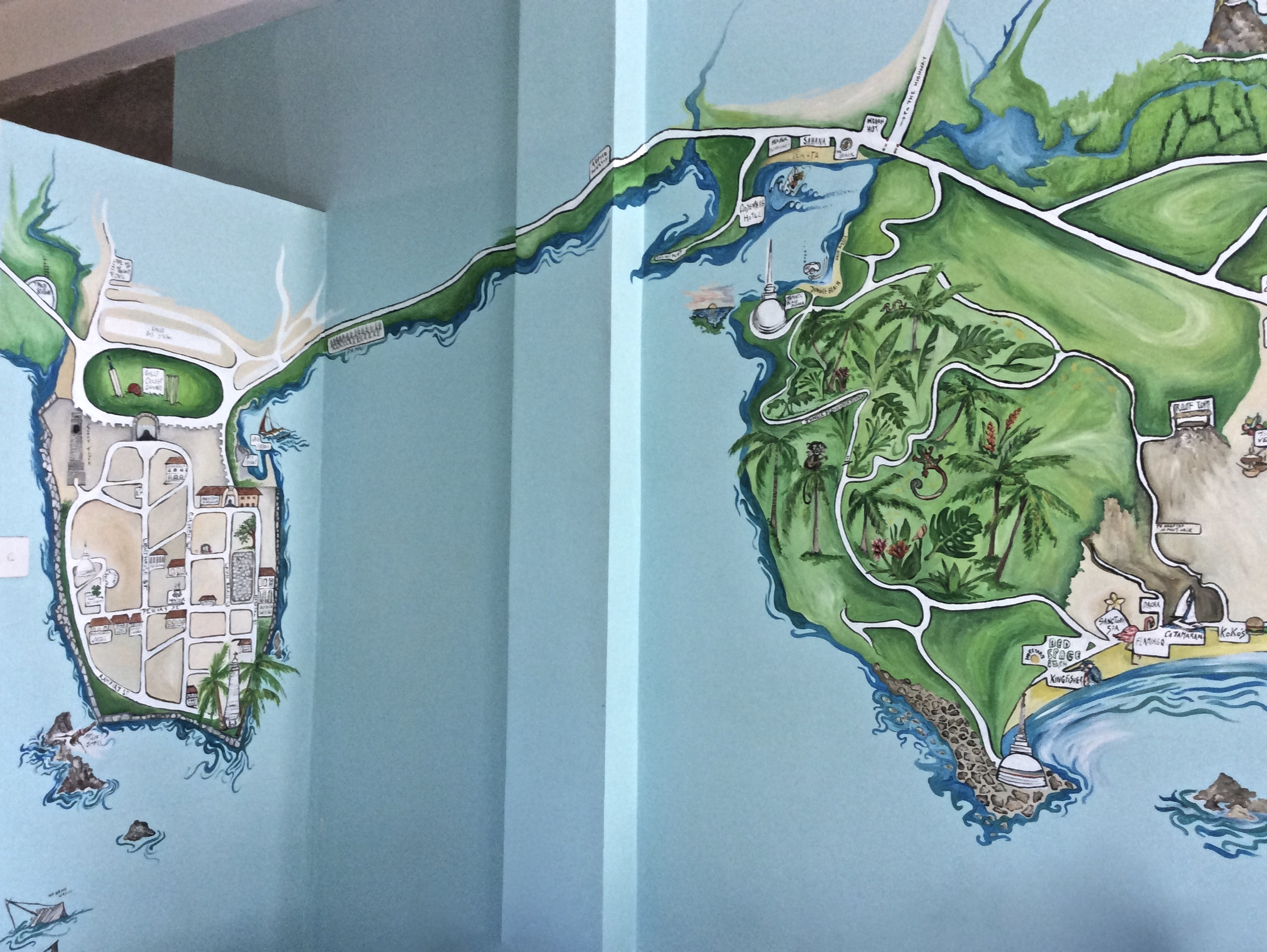 South Coast Map Mural