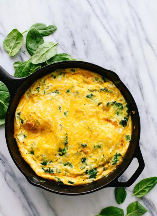 Broccoli & Cheddar Frittata - Have as a breakfast or a light lunch