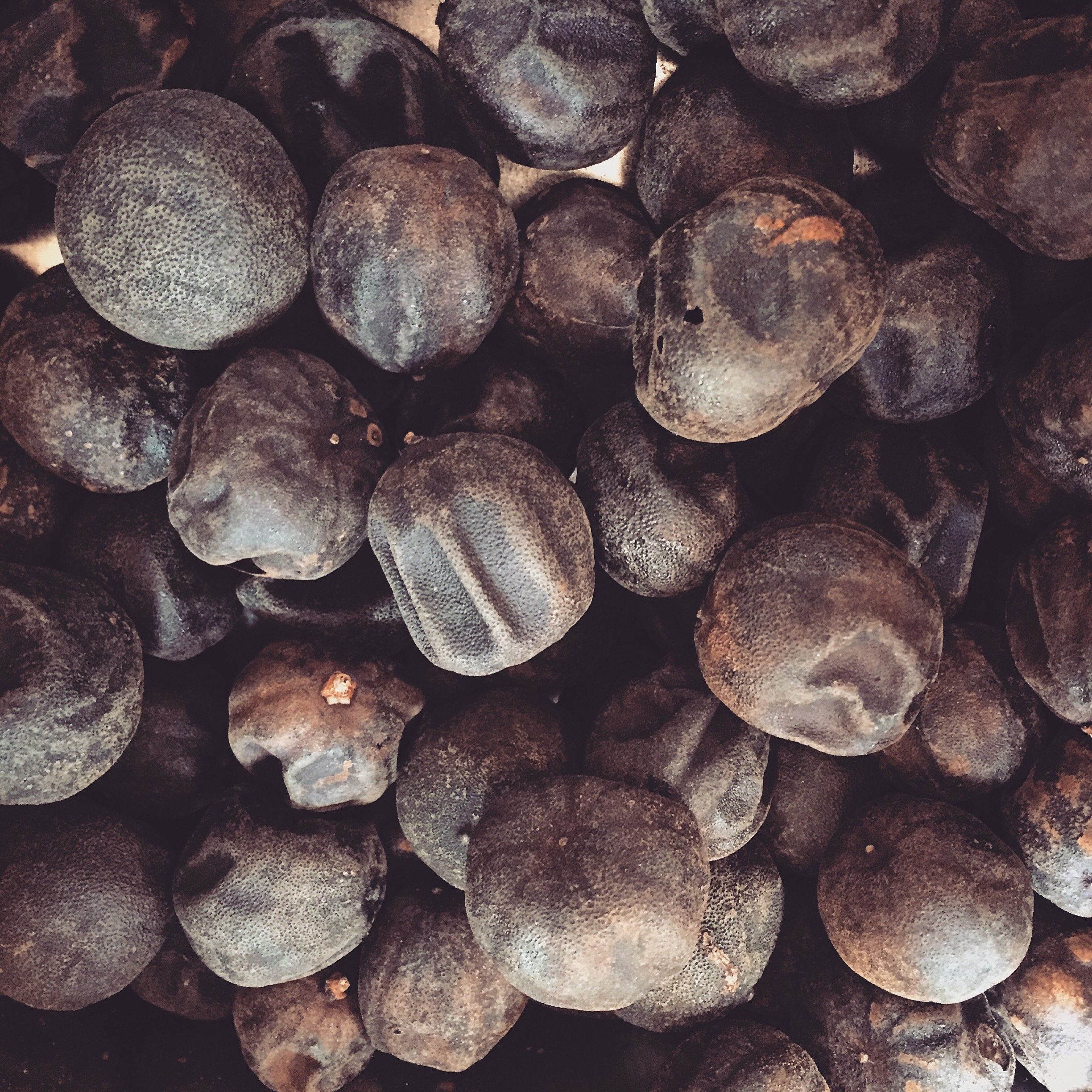 Whole dried limes. You can buy them like this or ground from Amazon or any international grocery store.