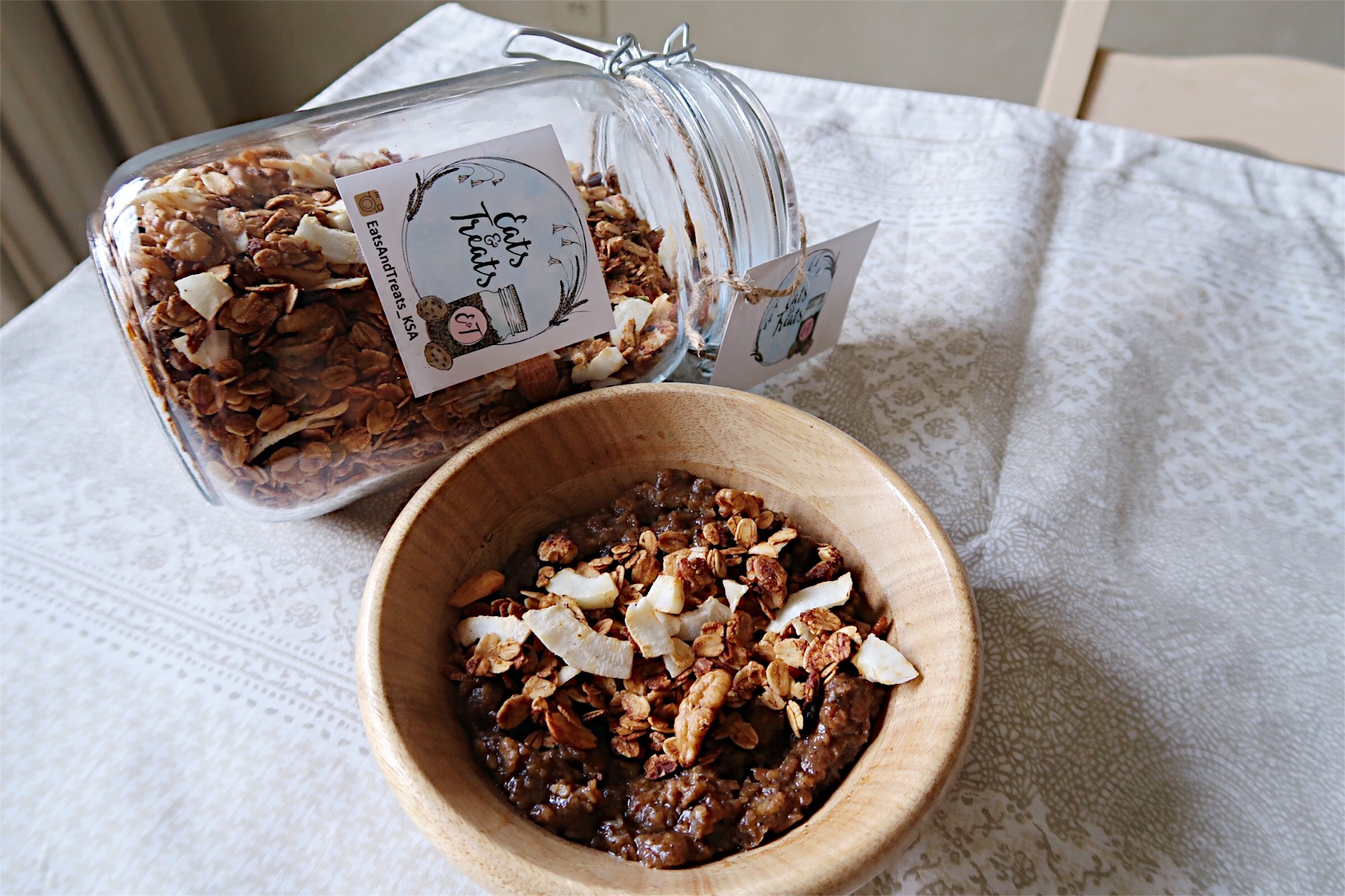 With pumpkin granola from Eats and Treats!