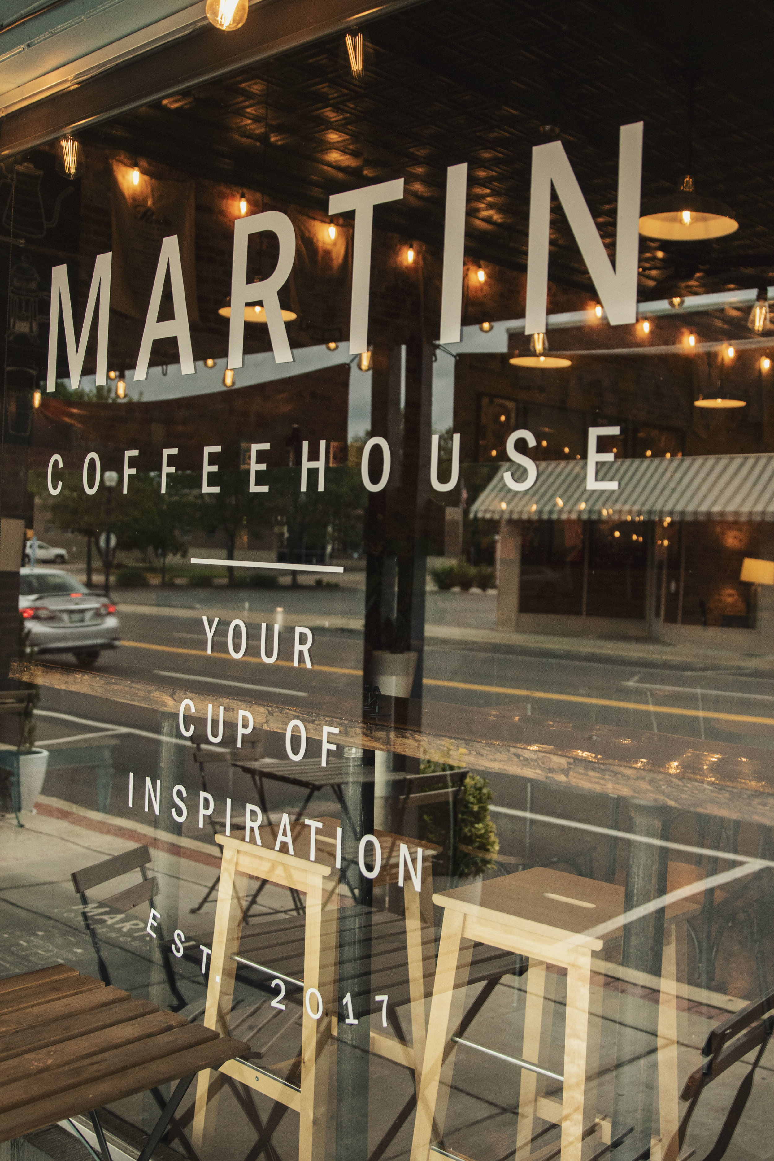 Martin Coffeehouse front window