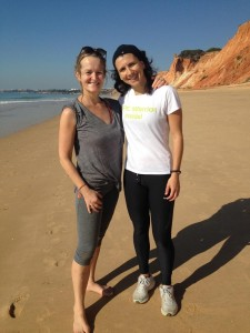 Kate (left) with trainer Patricia Inacio