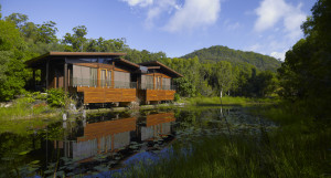The peaceful setting of Gwinganna's waterside villas