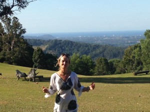 Our reviewer Kate enjoying the great outdoors