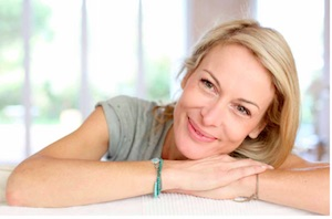 lady smiling menopause