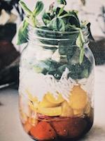 Tasty meal in a jar