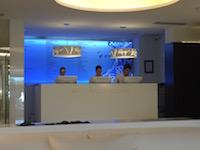 SHA's futuristic spa reception