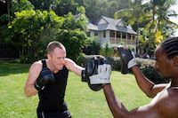 Strength training at BodyHoliday, St Lucia
